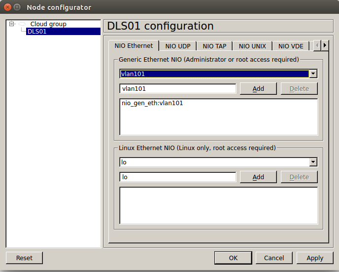 Connect GNS3 lab to real world equipment – bourskov dk